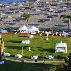 Beach Weddings Abroad Cyprus Weddings Outdoor Wedding Venue Aerial View
