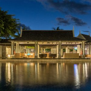 Beach Weddings Abroad Mauritius Weddings Boathouse Deck At Night