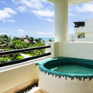Beach Weddings Abroad Mexico Weddings Preferred Club Junior Suite Ocean View Exterior Soaking Tub