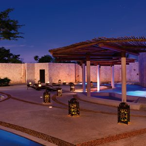 Beach Weddings Abroad Mexico Weddings Spa Pool At Night