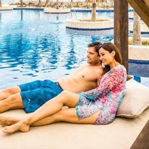 Beach Weddings Abroad Jamaica Weddings Couple In Pool Cabana