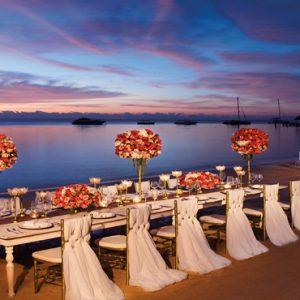Beach Weddings Abroad Mexico Weddings Beach Wedding Dining Reception Setup