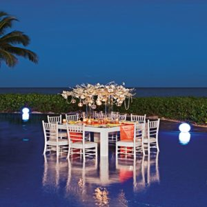 Beach Weddings Abroad Mexico Weddings Inpool Private Dinner