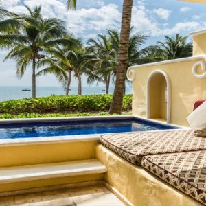 Beach Weddings Abroad Mexico Weddings Ocean Front One Bedroom Suite With Plunge Pool4