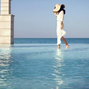 Saray Pool And Beach Jumeirah Zabeel Saray Luxury Dubai Honeymoon Packages