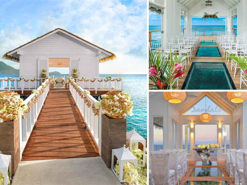Overwater Chapel The Ultimate Guide To Getting Married At Sandals Resorts Caribbean Weddings