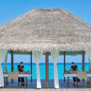 Kuramathi Maldives Maldives Weddings Abroad Couple Spa Massage Over The Lagoon