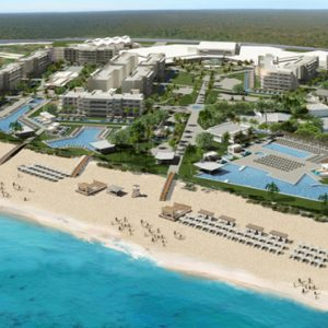 Aerial View Planet Hollywood Beach Resort Cancun Mexico Weddings Abroad