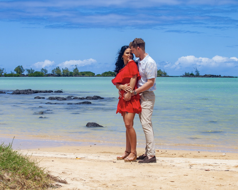 paradise cove beach photoshoot - real wedding review in Mauritius