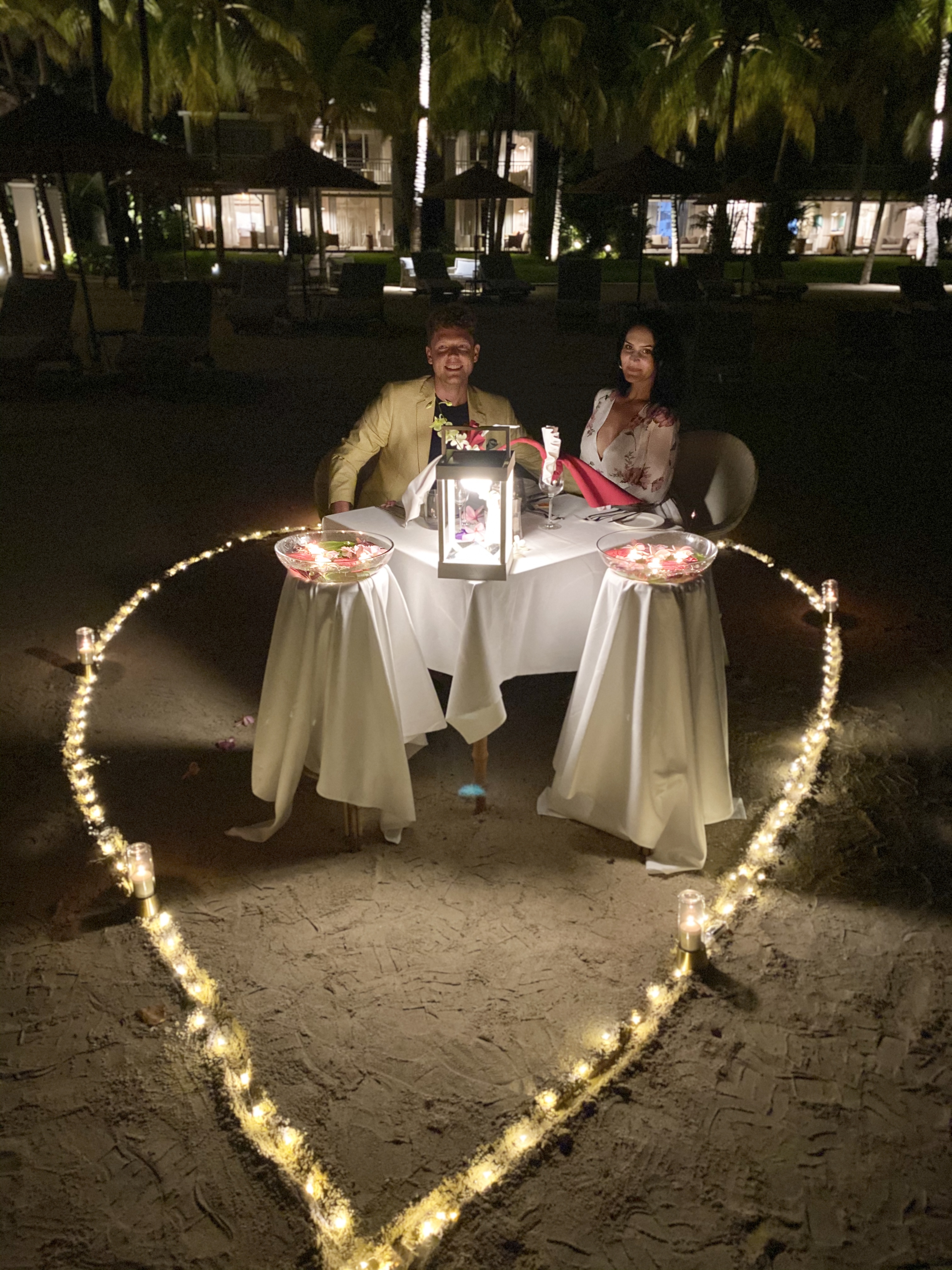 paradise cove romantic dinner for two - real wedding review in Mauritius